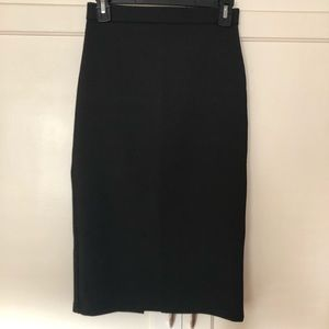 TOPSHOP black midi skirt